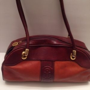 MARINO ORLANDI RARE MULTI TONE BROWN BAG VINTAGE